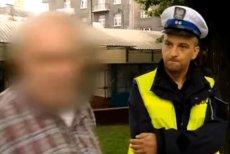 Starszy mężczyzna zatrzymany przez policję był wyjątkowo oporny.