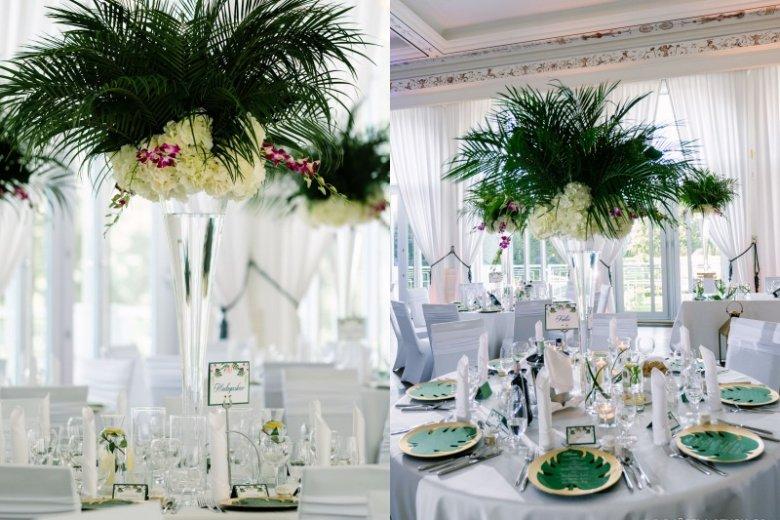 Aranżacje stołów na ślubie last-minute Gosi i Sławka zrealizowane przez Agencję Aspire