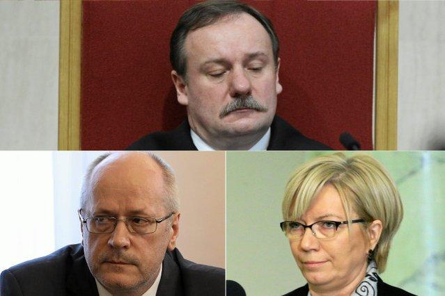 Synchroniczna choroba nominatów PiS sparaliżowała prace Trybunału Konstytucyjnego pod w ostatnich tygodniach 2016 r. (od góry: Piotr Pszczółkowski, Zbigniew Jędrzejewski i Julia Przyłębska).