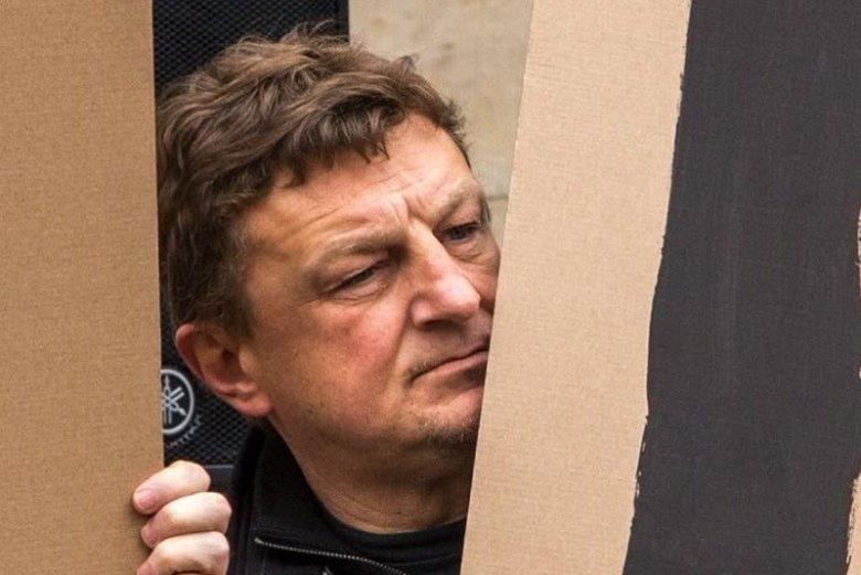 Działacz KOD Piotr Łopaciuk regularnie pojawia się na spotkaniach z politykami PiS