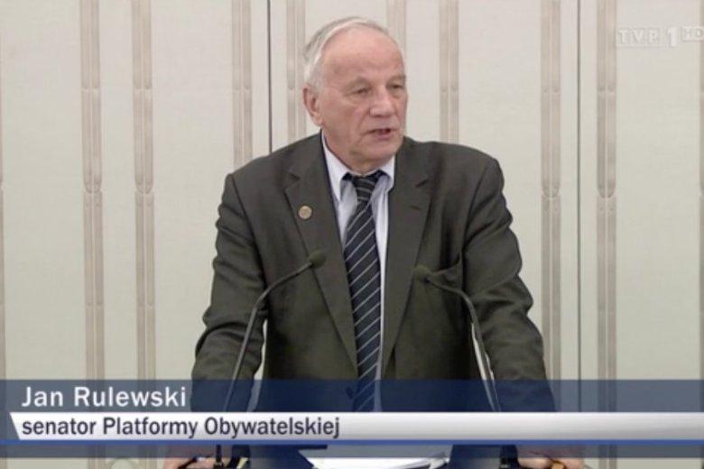 Jan Rulewski z PO poparł ustawę o IPN.