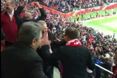 Prezydent Andrzej Duda i były prezydent Aleksander Kwaśniewski świetnie bawili się razem na meczu Polska-Armenia.
