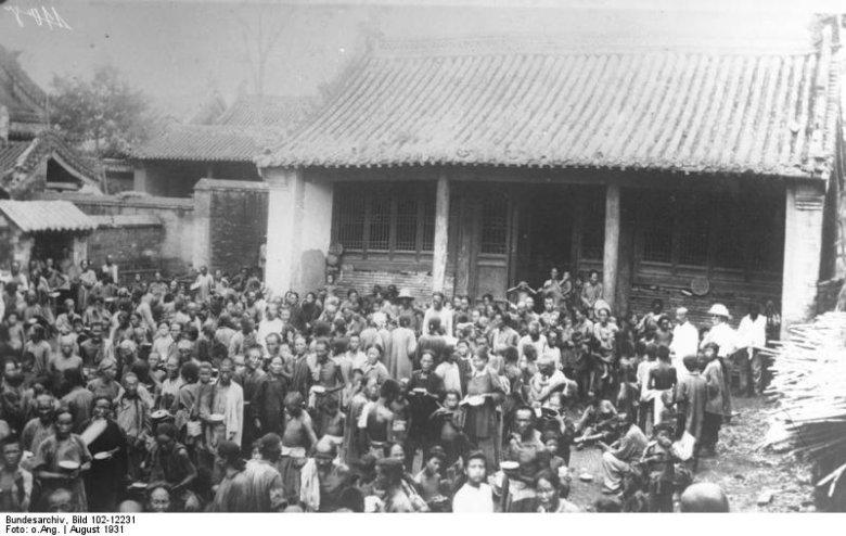 Ofiary największej katastrofy naturalnej w dziejach: powodzi w Chinach z 1931 roku.