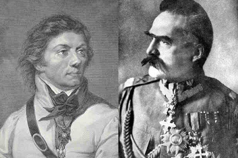 Tadeusz Kościuszko i Józef Piłsudski