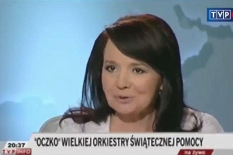 Danuta Holecka w przeszłości dziękowała w TVP Info Jerzemu Owsiakowi.