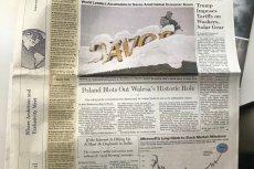 """Wszyscy uczestnicy konferencji w Davos dostają za darmo numer """"The Wall Street Journal"""". A na Pierwszej stronie opis polskiego konfliktu o Lecha Wałęsę."""