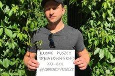 Borys Szyc zostałspisany przez strażnika leśnego podczas marszu w obronie Puszczy Białowieskiej.