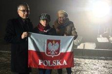 Przedstawiciele SRPONOK podczas obchodów 73. rocznicy wyzwolenia obozu w Auschwitz Birkenau.