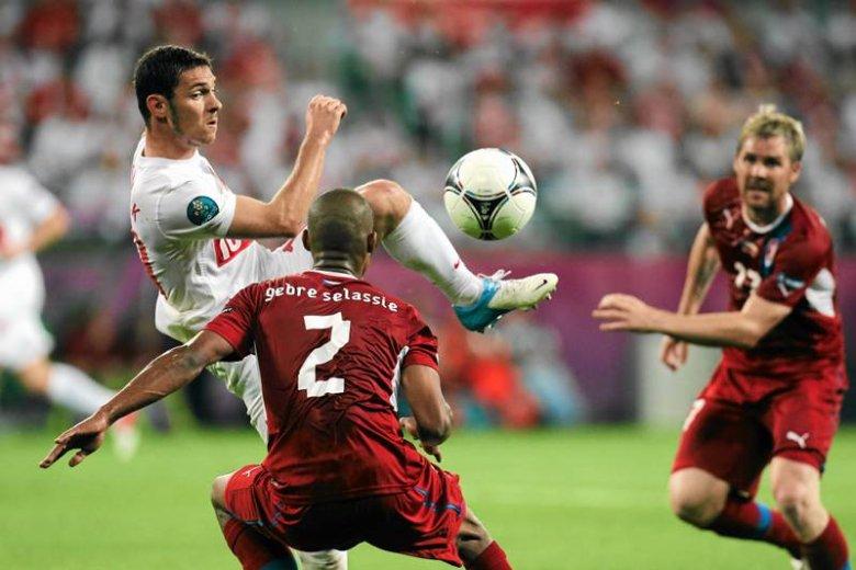 Ludovic Obraniak na meczu reprezentacji podczas Euro 2012