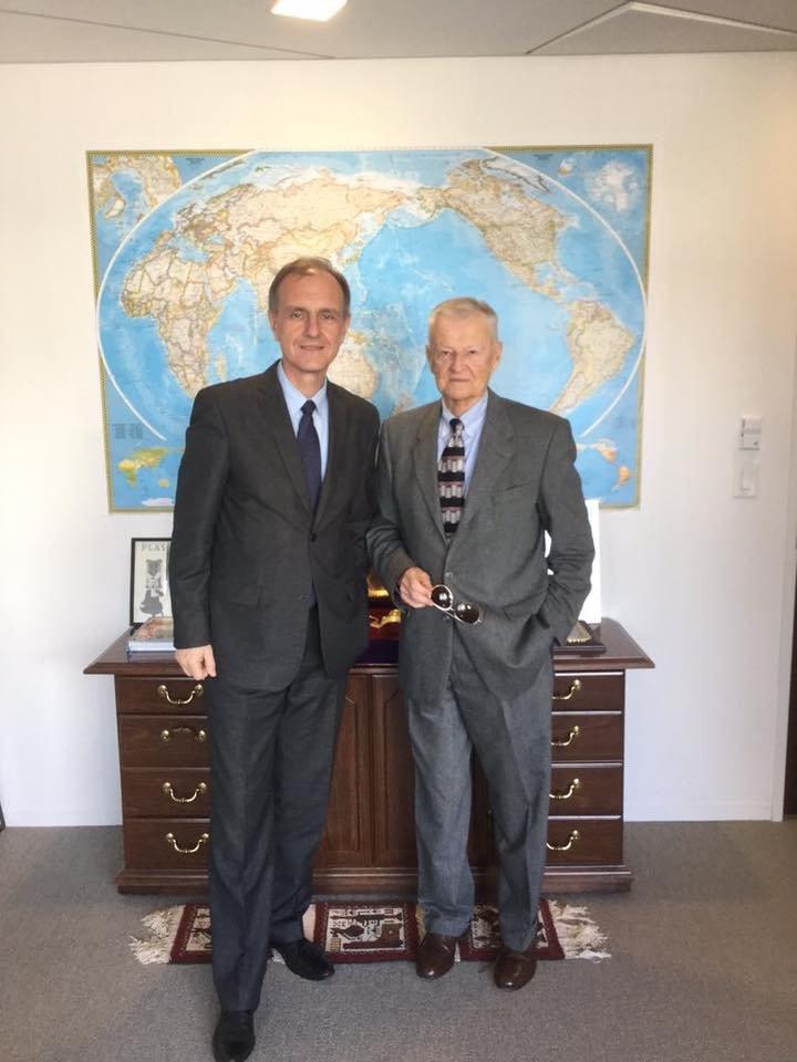 Bogdan Klich i prof. Zbigniew Brzeziński w Waszyngtonie