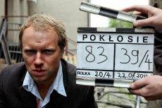 """Maciej Stuhr na planie filmu """"Pokłosie"""" Władysława Pasikowskiego"""