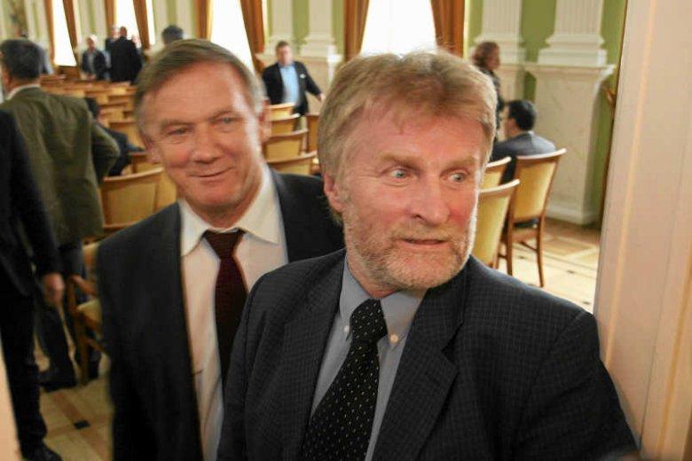Od lewej: Władysław Serafin i Jacek Soska, spotkanie Rady Naczelnej PSL, 2010 rok
