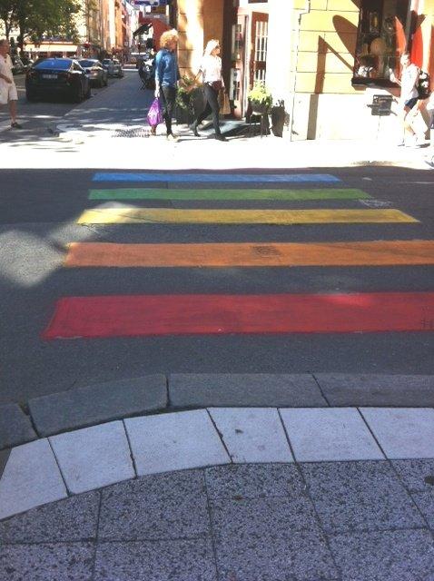 Tęczowe przejście dla pieszych w Sztokholmie