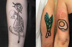 Różne style i mody mieszają się ze sobą i w efekcie modne jest to, co się komuś najbardziej podoba. Na fali są czaszki z różami i tatuaże prymitywne, jak te z gum do żucia.