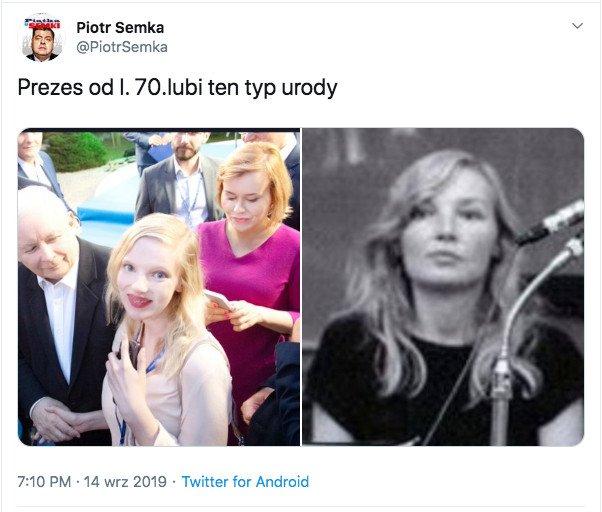Dziennikarz Piotr Semka bardzo szybko usunął swój wpis.