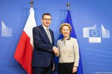 Mateusz Morawiecki spotkał się z szefową Komisji Europejskiej Ursulą von der Leyen w Brukseli.