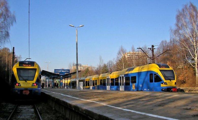 Kiedyś nowoczesne pociągi - własność Województwa Śląskiego - obsługiwały w ramach Przewozów Regionalnych linię Sosnowiec - Tychy. Kiedyś...