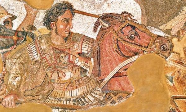 Jedno z najbardziej znanych wyobrażeń Aleksandra Macedońskiego odnalezione w Pompejach