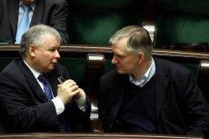 Prezes PiS Jarosław Kaczyński i lider Polski Razem Jarosław Gowin raczej sięnie dogadają