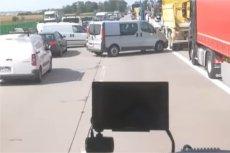 Strażacy nagrali zachowanie kierowców na A4.