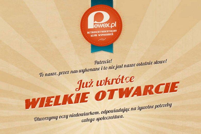 Pewex wraca do Polski. Tyle, że w internecie.