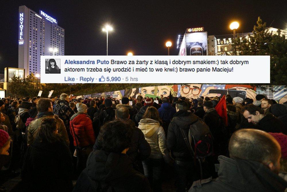Polacy w internecie masowo poparli Macieja Stuhra.
