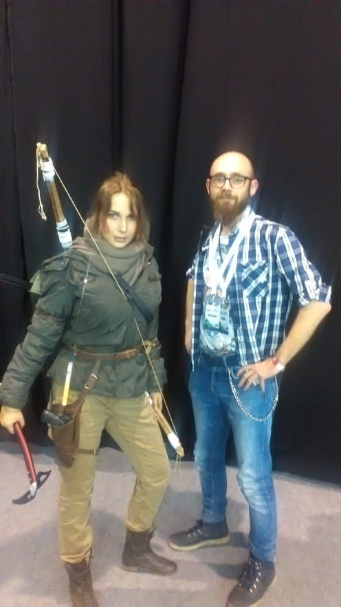Ja i Lara Croft.