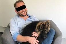 Kamil D. feralnego dnia nie jechał w samochodzie sam, na kanapie towarzyszył mu owczarek Dymitr.