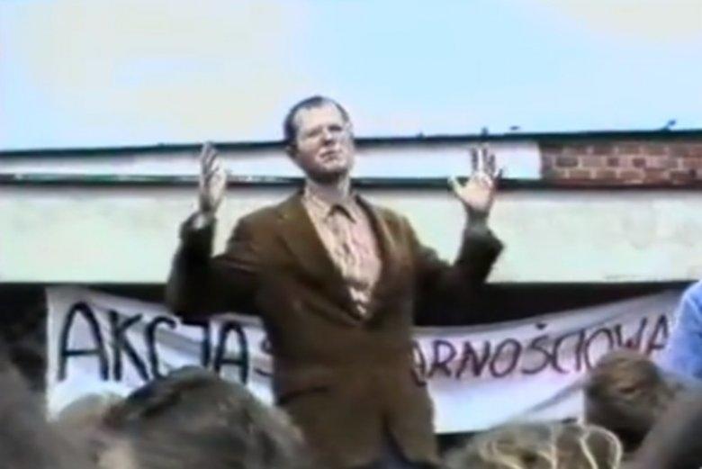 Paweł Adamowicz był współorganizatorem strajku studentów w Gdańsku w 1988 r.
