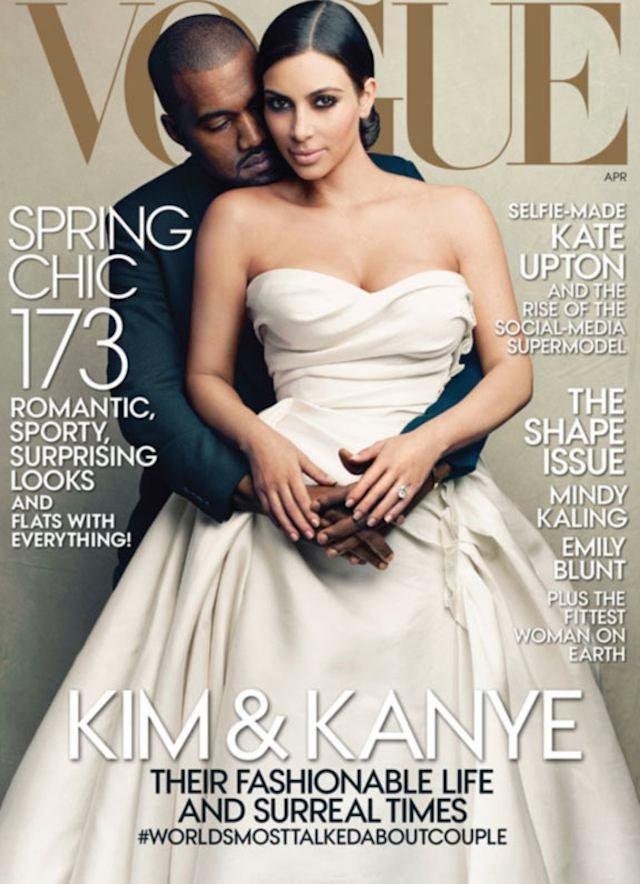 Kim Kardashian i Kayne West na okładce Vogue'a. Dla samej Kim to wielki krok w jej karierze. Zdobyła coś, co dla celebrytek jej pokroju nigdy nie miało prawa być dostępne.