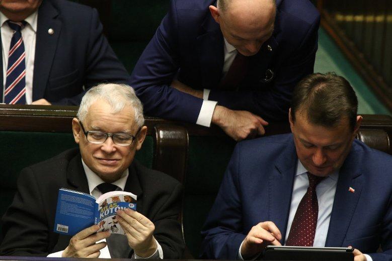 """""""Atlas kotów"""", który w Sejmie czytał prezes Jarosław Kaczyński, wylicytowano za ponad 250 tys. zł."""