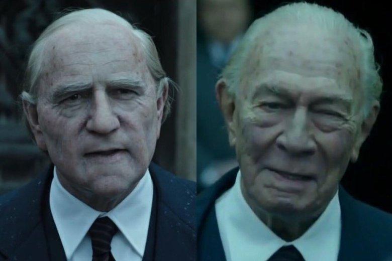 Po lewej Kevin Spacey, a po prawej Christopher Plummer, który go zastąpił w roli obrzydliwie bogatego miliardera Jeana Paula Getty'ego.