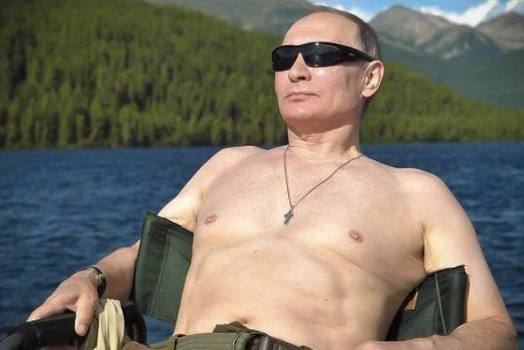 Prezydent Rosji Władimir Putin na wakacjach.