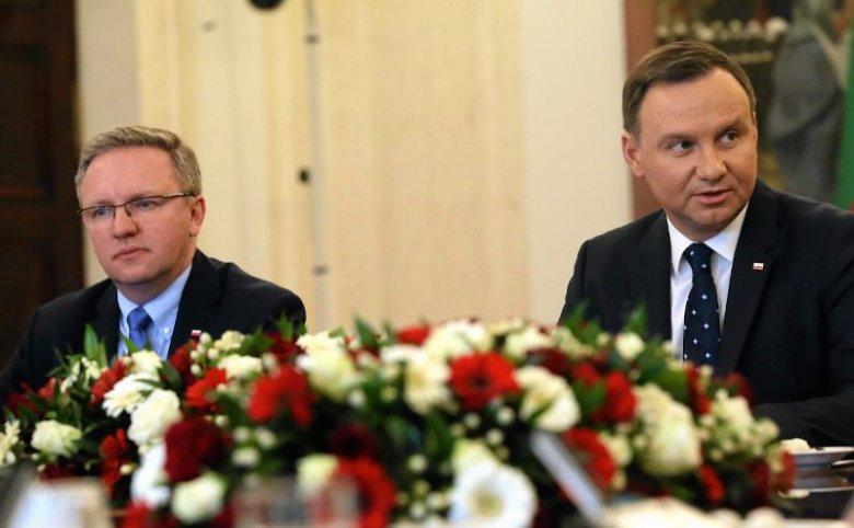 Minister Krzysztof Szczerski i prezydent Andrzej Duda