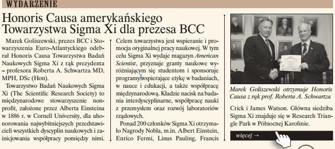 Elektroniczna Gazeta BCC, wrzesień 2014