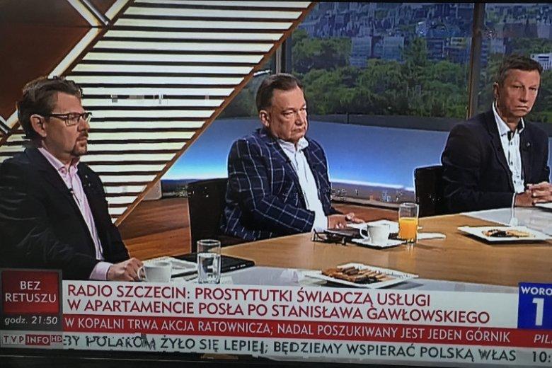 Awantura w studio Woronicza 17. politycy opozycji opuścili studio.
