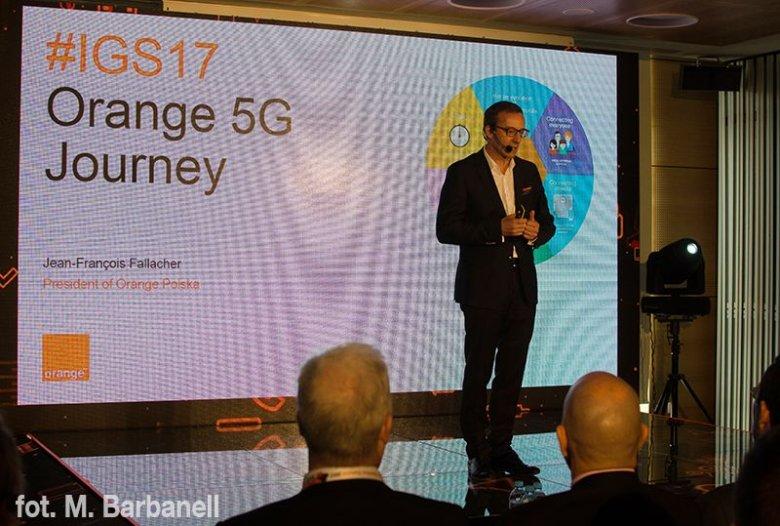 O rozwoju sieci 5G opowiedział słuchaczom konferencji Jean-François Fallacher, prezes Orange Polska