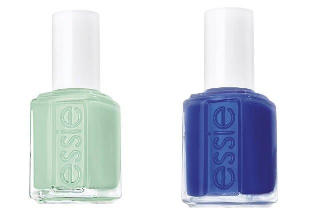 Mięta i ciemny niebieski - moja dwa typy kolorów na manikiur i pedikiur