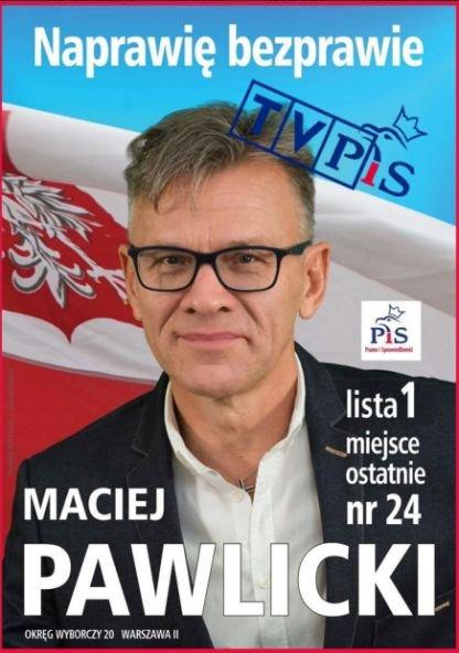 Maciej Pawlicki, kandydat PiS do Sejmu, jest teraz pracownikiem TVP. To z powodu jego programu posłanka Paulina Hennig-Kloska (.Nowoczesna) wyszła ze studia TVP.