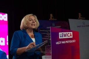 Wanda Nowicka na konwencji Lewicy