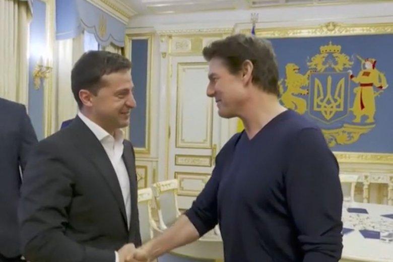 Spotkanie prezydenta Ukrainy z Tomem Cruisem było pełne miłych komplementów.
