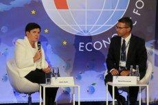 Na Forum Ekonomiczne w Krynicy zostali zaproszeni praktycznie sami mężczyźni. Beata Szydło był jedną z nielicznych kobiet dopuszczonych do głosu.