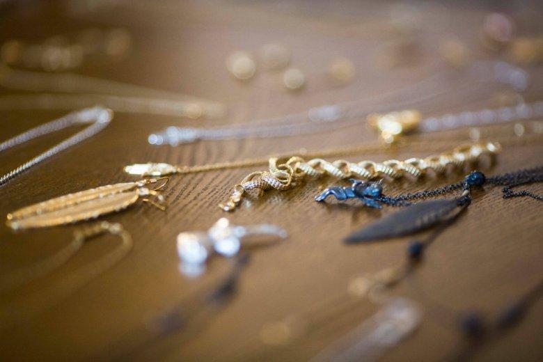 Elementy biżuterii projektu Anki Krystyniak