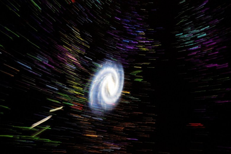 Wizualizacje w planetarium Centrum Nauki Kopernik.