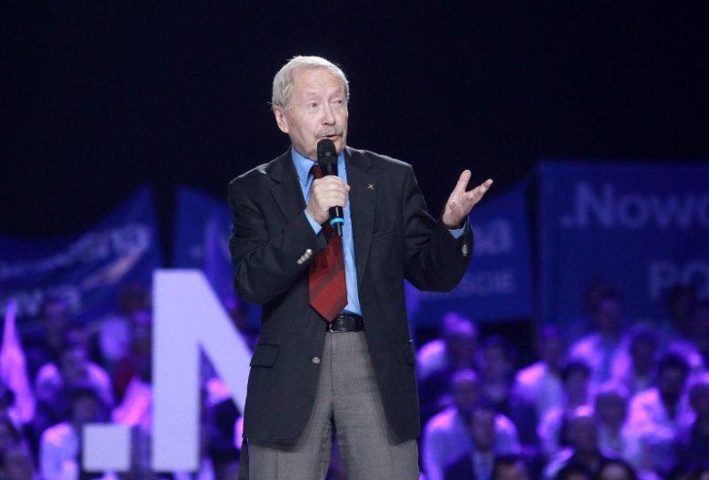 Maj 2017. Janusz Onyszkiewicz podczas Konwentu Nowoczesnej.