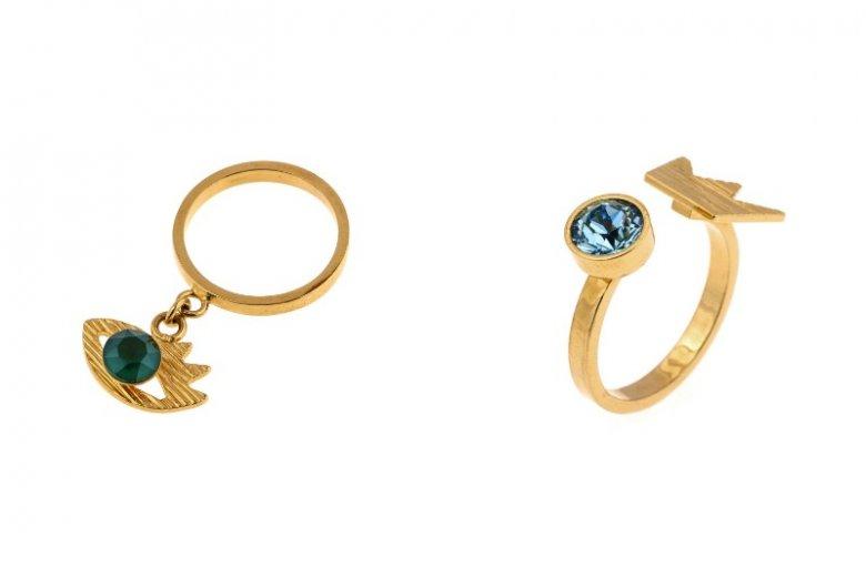 Deco Art: pierścionek z zawieszką 189 zł, pierścionek z koroną 159 zł
