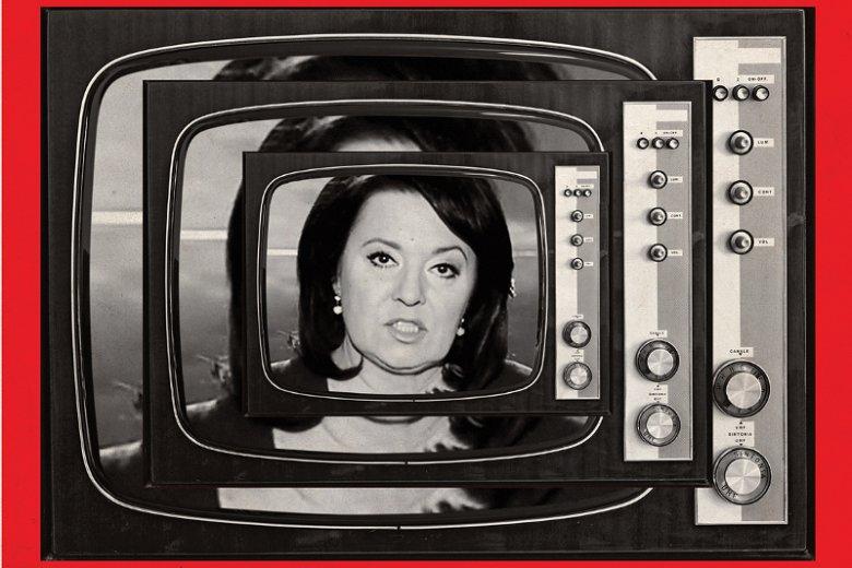 """""""Newsweek"""" pisze o tym, jak zmieniła się Danuta Holecka, gdy została szefową """"Wiadomości""""."""