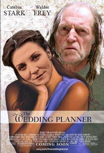 """Ironiczne przerobienie plakatu. """"Planowanie wesel"""""""