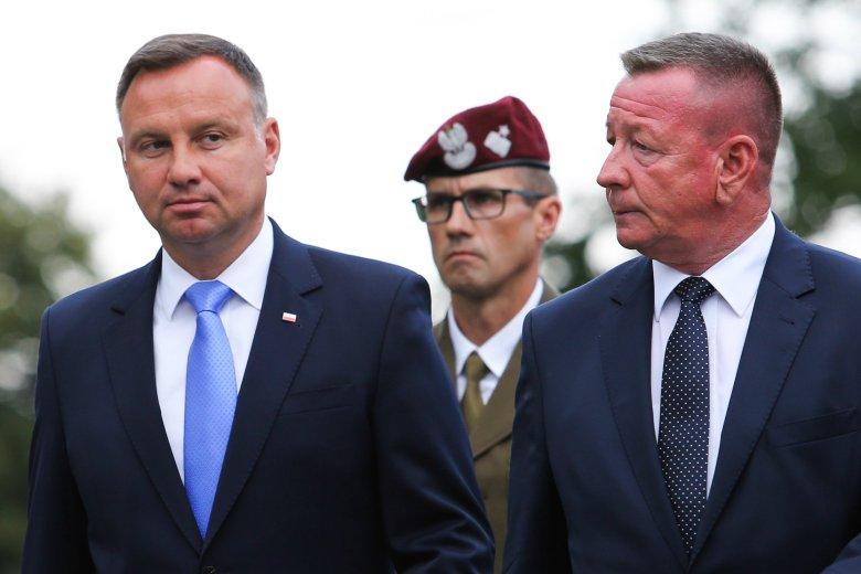 Andrzej Duda wziął udział w odsłonięciu pomnika Józefa Hallera w Jurczycach pod Skawiną.