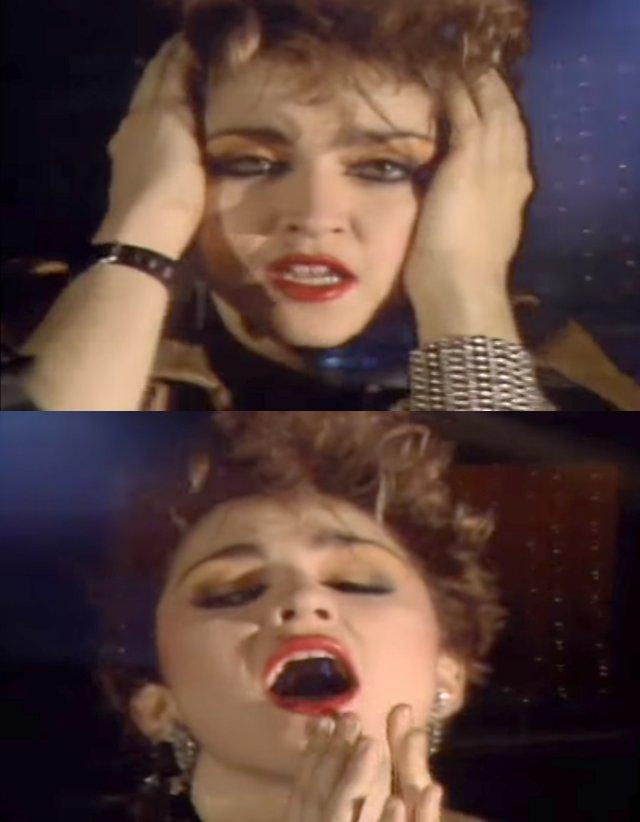 """Madonna ze swojej pierwszej piosenki """"Everybody"""", za wylansowanie której sławnemu w Nowym Yorku DJ-owi Markowi Kaminsowi oraz producentowi Seymourowi Stein z Sire Records zapłaciła ponoć nie tylko ustami."""